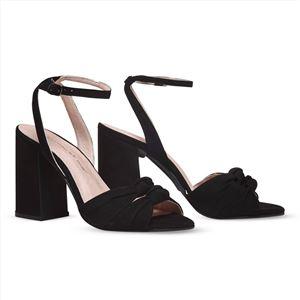 ヒール付け替え可能サンダル/婦人靴 【Black Twirl/Block 10cm ブラック サイズ:36(23cm相当)】 Mime et moi ミミ・エ・モイ - 拡大画像