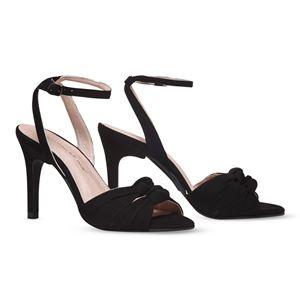 ヒール付け替え可能サンダル/婦人靴 【Black Twirl/Stiletto 10cm ブラック 39(26cm相当)】 Mime et moi ミミ・エ・モイ - 拡大画像