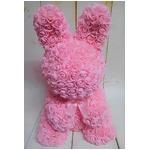アーティフィシャルバニー【2個セット】(ピンク造花)ローズバニー