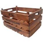 丸和貿易 収納ボックス スタッキングコンテナBOX AT アンティーク