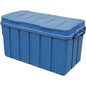 大容量ゴミ箱 分別ペール2X2(ツーバイツー) ブルー 容量100L 4523B - 拡大画像