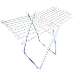 タオルハンガー 折り畳み式万能物干台 ブルー - 拡大画像