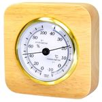 クレセル 天然木温湿度計 卓上用 CR‐620
