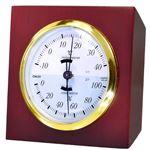 クレセル 天然木温湿度計 卓上用 CR‐640