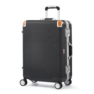 軽量 スーツケース/旅行カバン 【64L ブラック】 4〜6泊用 ポリカーボネード TSAロック 4輪ダブルキャスター スイスミリタリー - 拡大画像