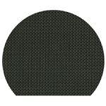 尺3半月マット ブラック格子 PVC