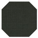 尺2隅切マット ブラック格子 PVC