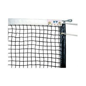 KTネット 全天候式上部ダブル 硬式テニスネット センターストラップ付き 日本製 【サイズ:12.65×1.07m】 ブラック KT1262 - 拡大画像