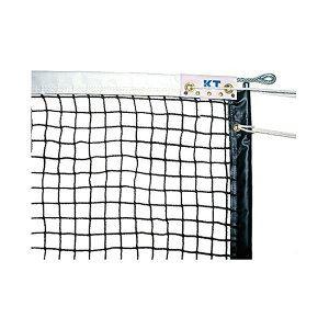 KTネット 全天候式無結節 硬式テニスネット サイドポール挿入式 センターストラップ付き 日本製 【サイズ:12.65×1.07m】 ブラック KT223 - 拡大画像