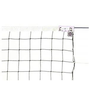 KTネット 周囲ロープ式 6人制バレーネット 日本製 【サイズ:巾100cm×長さ9.5×網目10cm】 KT6102 - 拡大画像