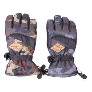 スキーレジャーグローブ メンズ 迷彩ブラック M - 拡大画像
