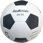 サッカーボール 5号 ホワイト亀甲 直径約22cm 重さ420g 合皮/合成皮革 〔スポーツ用品 運動用品〕