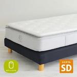 3ゾーンポケットコイルマットレス ピロートップ セミダブル やわらかめ仕様 エッジサポート 圧縮梱包