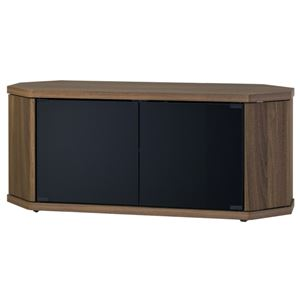 コーナーテレビ台 幅100×高さ39cm ブラウン 【組立品】 - 拡大画像