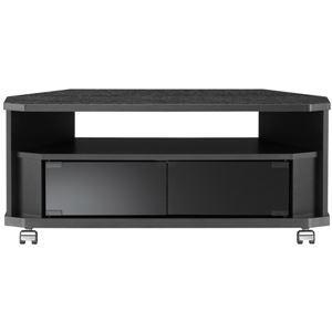 コーナーぴったりテレビ台 幅79×高さ34.2cm ブラック 【組立品】 - 拡大画像