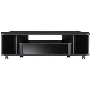 コーナーぴったりテレビ台 幅120×高さ34.5cm ブラック 【組立品】 - 拡大画像