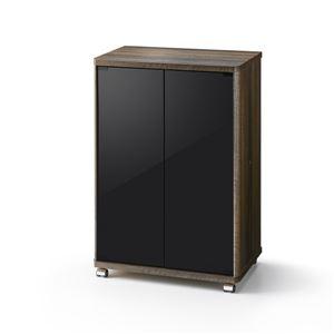 ローボード ELGシリーズ ミドルテレビ台 幅57.8cm ブラウン 【組立品】 - 拡大画像