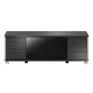 ローボード GDシリーズ 幅120×高さ41.8cm アッシュグレー 【組立品】 - 拡大画像