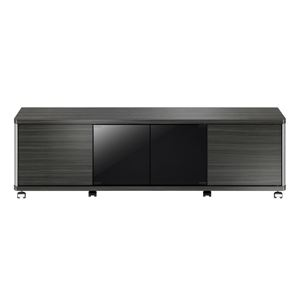 ローボード GDシリーズ 幅140×高さ41.8cm アッシュグレー 【組立品】 - 拡大画像