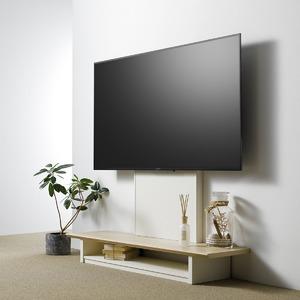壁寄せTV台 (TV対応サイズ:40〜65V) ナチュラル 組立品 AS-WG1200-NA - 拡大画像