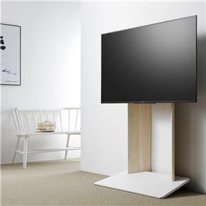 壁寄せTV台 (TV対応サイズ:40〜55V) ナチュラル 組立品 WS-A800-NA - 拡大画像