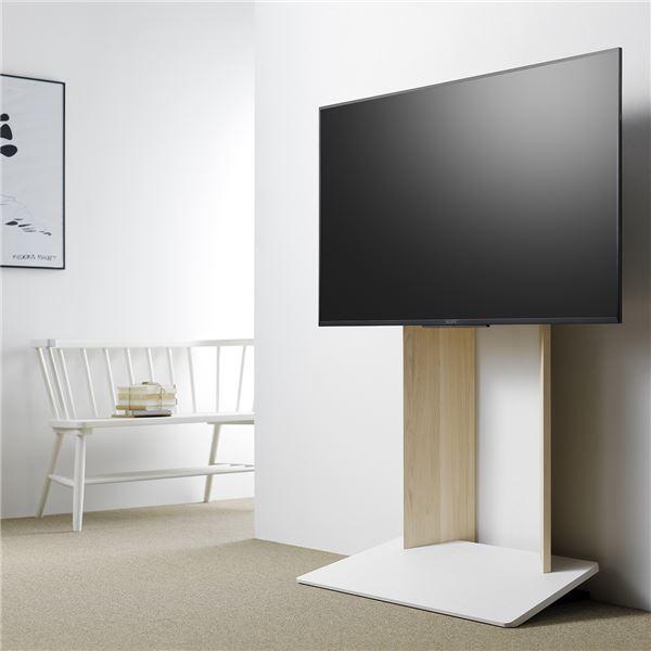 壁寄せTV台 (TV対応サイズ:40〜55V) ナチュラル 組立品 WS-A800-NA