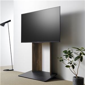 壁寄せTV台 (TV対応サイズ:40〜55V) ダークブラウン 組立品 WS-A800-DB - 拡大画像