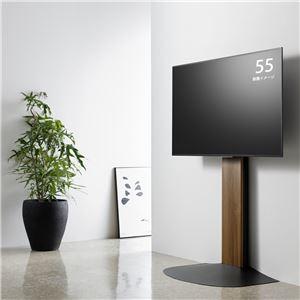 壁寄せTV台 (TV対応サイズ:40〜77V) ダークブラウン×ブラック 組立品 WS-B840-DB - 拡大画像