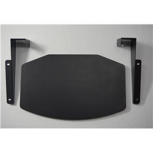 【壁寄せTV台 WS-B840用オプションパーツ】 棚板 ブラック WS-B840SH-B - 拡大画像
