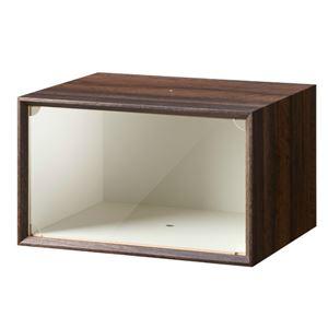 木製スニーカーボックス ダークブラウン 完成品 - 拡大画像