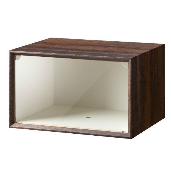 木製スニーカーボックス ダークブラウン 完成品