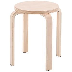 木製丸椅子座面φ340mm ナチュラル - 拡大画像