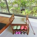 畳に腰掛け スツール 玄関ベンチ 座椅子【ダークブラウン】組立式