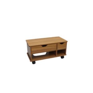 木製 布団サイド ワゴン【ブラウン】組立式 - 拡大画像