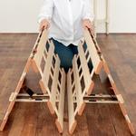 薄型軽量桐すのこベッド 4つ折れ式 シングル【完成品】