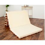 薄型軽量桐すのこベッド 3つ折れ式 シングル【完成品】