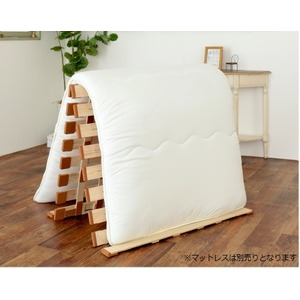 薄型軽量桐すのこベッド スタンド式 ダブル【完成品】 - 拡大画像