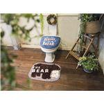 オカトー &Green トイレ2点セット(ふたカバー・マット) 洗浄・暖房用 THE BEAR