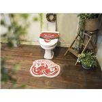 オカトー &Green トイレ2点セット(ふたカバー・マット) 洗浄・暖房用 TOMATO