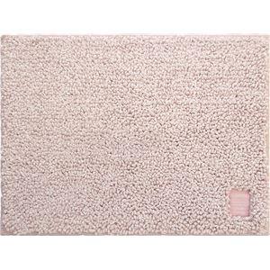 (まとめ) オカトー Hitohira バスマット 45×60cm 桜(ピンク) 【×2セット】 - 拡大画像