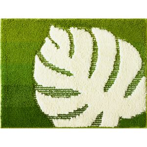 (まとめ) オカトー モンストルム バスマット 45×65cm グリーン 【×2セット】 - 拡大画像