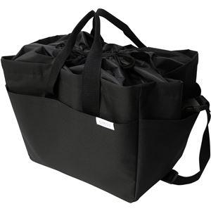 オカトー miketto 保冷のできるレジかごバッグ 「ROUGH」 ブラック - 拡大画像