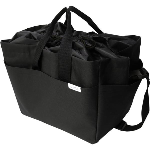 オカトー miketto 保冷のできるレジかごバッグ 「ROUGH」 ブラック