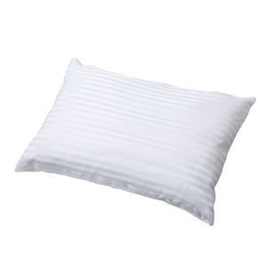 【西川】 洗えるわた&パイプ入り 枕/ピロー 【約63×43cm】 ポリエステル100% 快適 わた パイプ 〔ベッドルーム 寝室〕 - 拡大画像