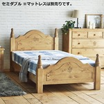 セミダブルベッド ナチュラルブラウン ベッド すのこベッド ベッドフレーム セミダブル 天然木 おしゃれ 北欧 カントリー 組立品