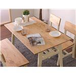ダイニングテーブル 140cm幅 ホワイト テーブル 食卓 ダイニングキッチン 天然木 カントリー おしゃれ 北欧 組立品