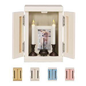 日本製 メモリアルボックス Sサイズ ブラウン ペット仏壇 ペット仏具 家具調 かわいい ペット用 完成品 - 拡大画像