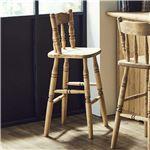 バーチェア ナチュラルブラウン チェア ハイチェア 椅子 ダイニングチェア カントリー 天然木 おしゃれ 完成品