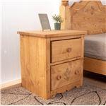 ナイトテーブル ナチュラルブラウン テーブル サイドテーブル ベッドサイドテーブル 天然木 カントリー おしゃれ 北欧 完成品
