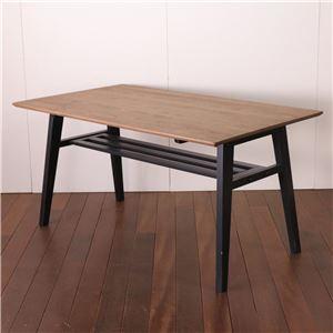 ダイニングテーブル 120cm幅 ブラック テーブル 食卓 ダイニングキッチン 天然木 カントリー おしゃれ 北欧 組立品 - 拡大画像